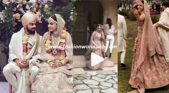 Amazing entry of bride ( Watch Virat Kohli & Anushka sharma wedding video)