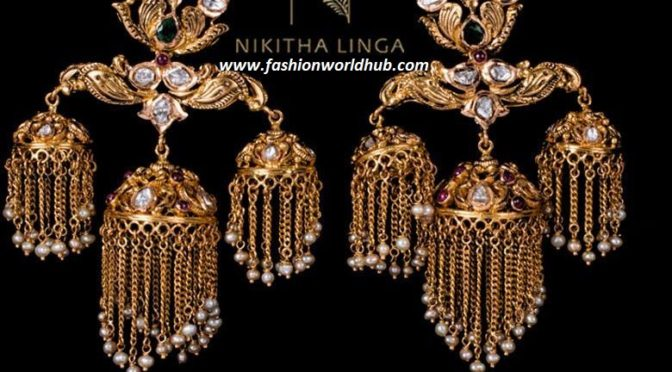 Unique jumkha ear rings
