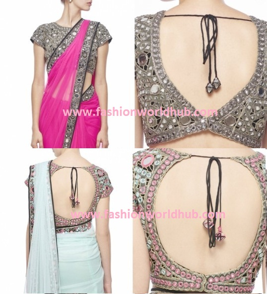 Latest Mirror Work Saree Blouse Designs Fashionworldhub