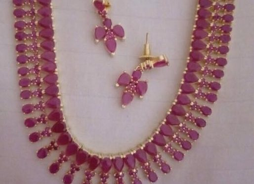 One gram gold ruby necklace