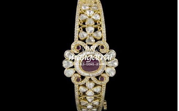 Uncut diamond bracelet