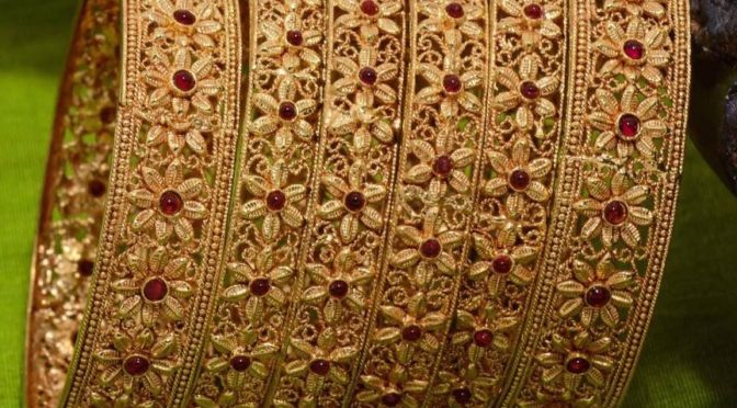 One gram gold bangle designs