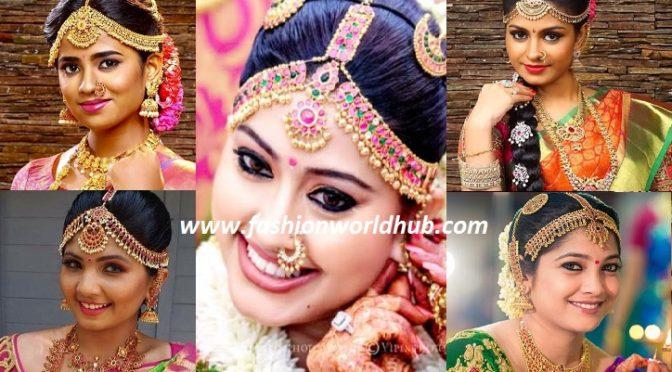 Gorgeous Nethi chutti ( Maang tikka) designs