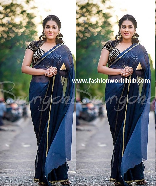 2af57e08e5953 (2) Plain saree with full sleeve blouse  - This pattern blouse look good  for official wear as well. Based on your saree colour team up with floral  pattern ...