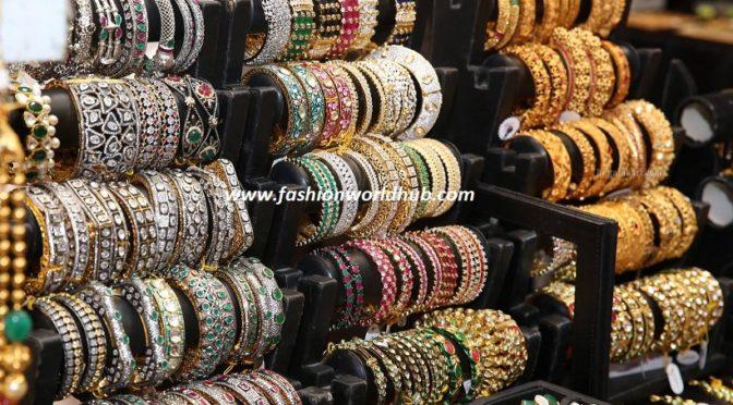 Designer one gram gold & Stone bangles.