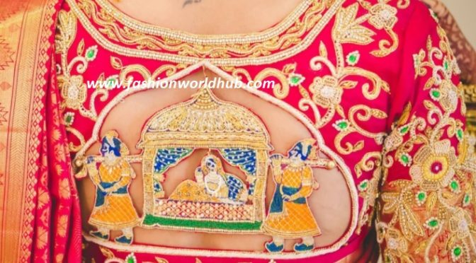 Bridal Maggam work blouse