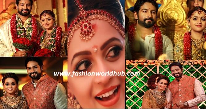 Actress Bhavana and Producer Naveen Wedding and reception photos!