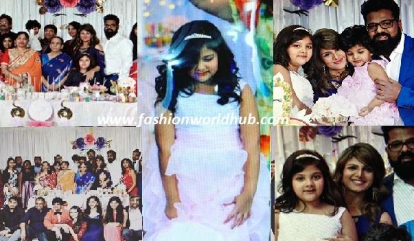 Actress Rambha daughter Laanya birthday photos!