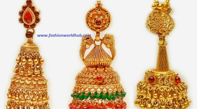 Gold Jhumkas designs