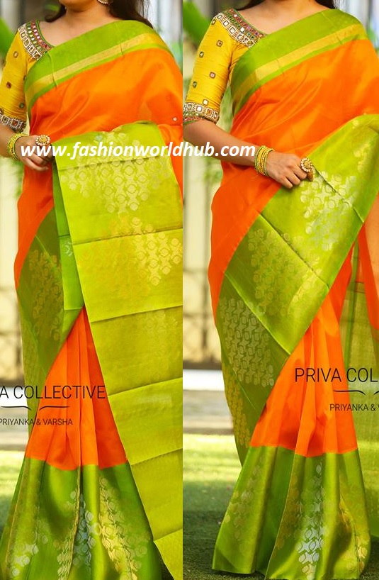 bedaeeae76 This beautiful saree and blouse combination is from priva collective. For  details please reach 9160560480/9989888510. kuppadam sarees in hyderabad  you can ...