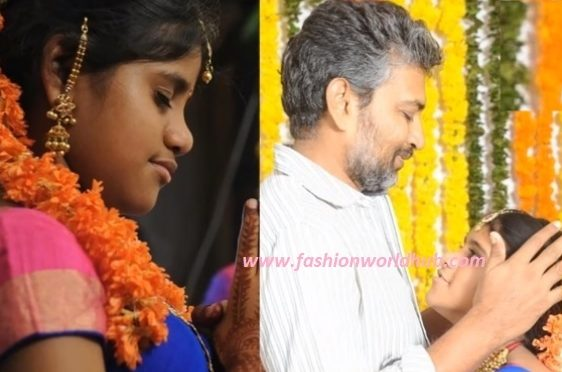 SS Rajamouli Daughter Mayukha in Halfsaree.
