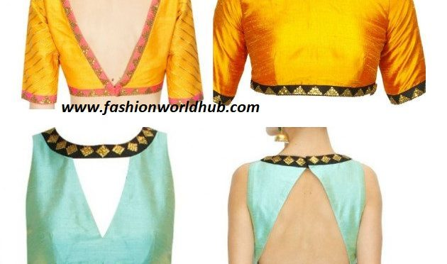 Simple blouse designs with borders