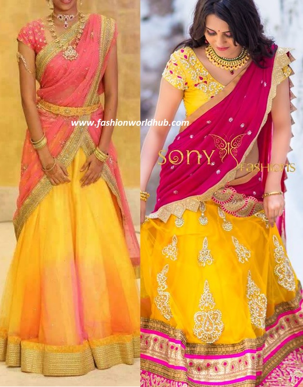 Top 8 Half Saree Color Combinations That Are Trending In