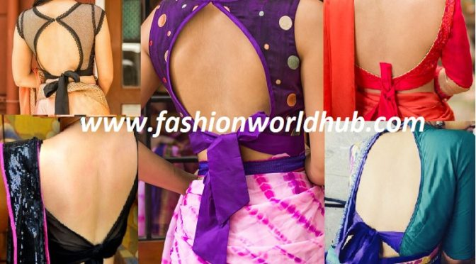 Glam up your sarees with Knot blouses.