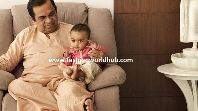 Brahmanandam with his grand son.