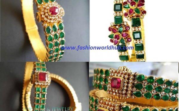 Emerald bangle designs
