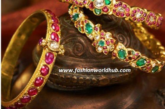Kundan gold bangle