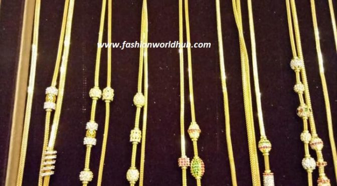 20 Latest Gold Thali chain designs