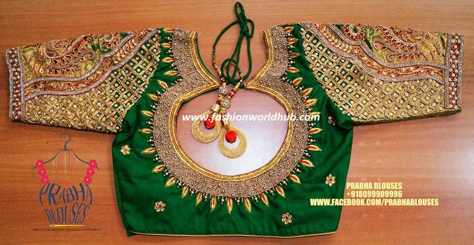 Gold Color Blouse Designs