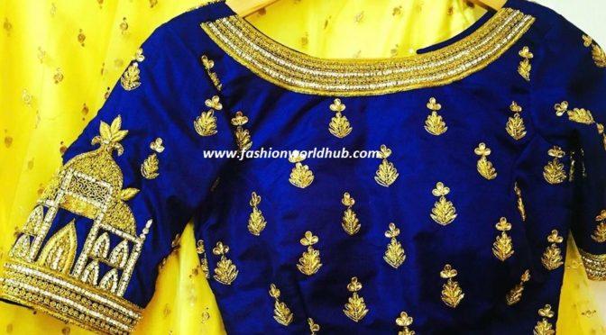 High neck Taj mahal blouse