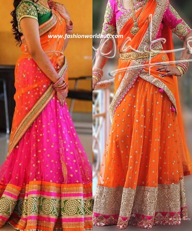 8 Half Saree Color Combinations That Are Trending In 2018