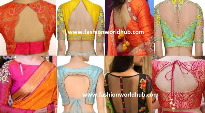50 Latest Saree Blouse Neck Designs