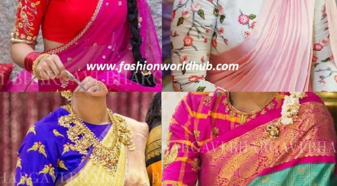 Latest high neck blouse designs
