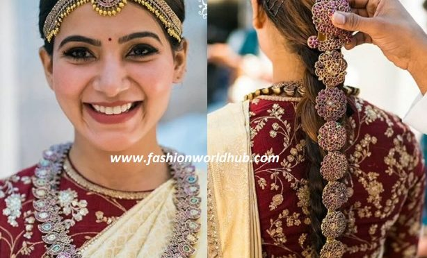 WOW !! Have a glance of Samantha Wedding makeup & bridal Jewellery!!