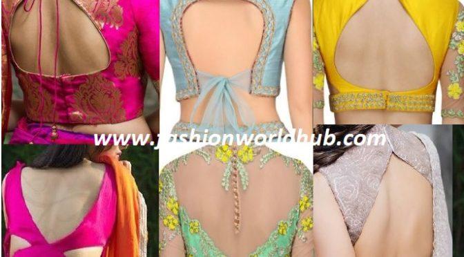 50 Latest Saree Blouse Neck Designs