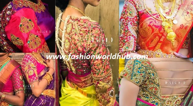 This Boutique Creates The Most marvelous Wedding Blouse Designs