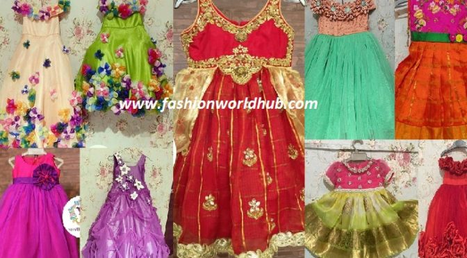 Designer kids frock designs