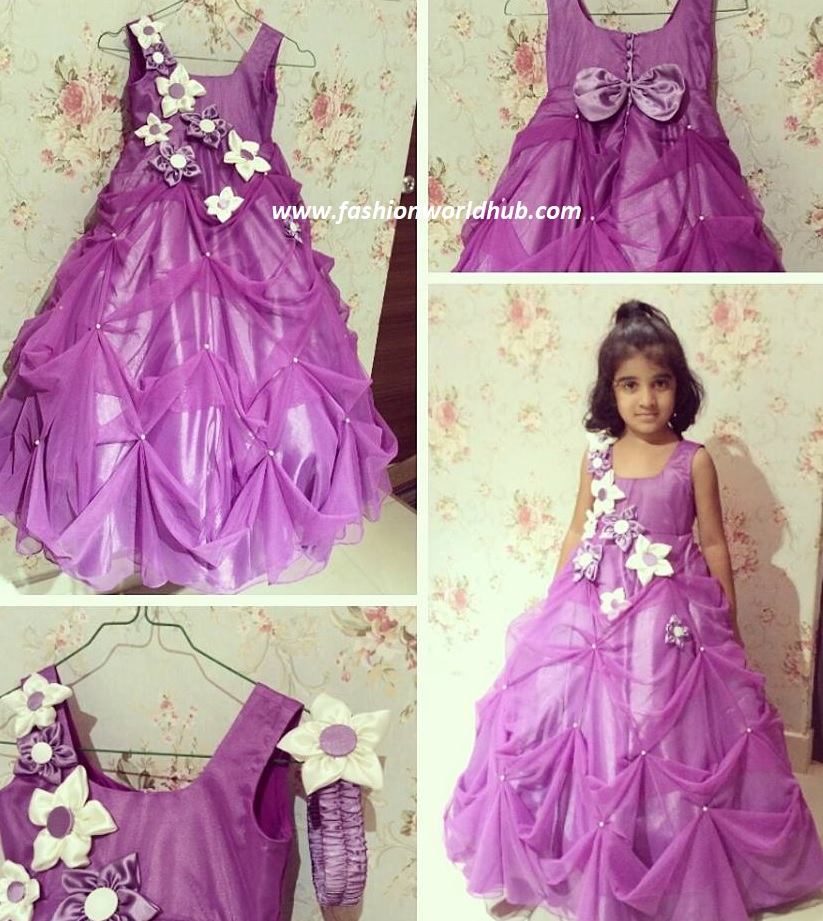 "904fdf001 Here are some beautiful designer kids frock designs by ""Vanitha Couture"".  They are not only specialized in kids frocks but also popular in kids  lehengas as ..."