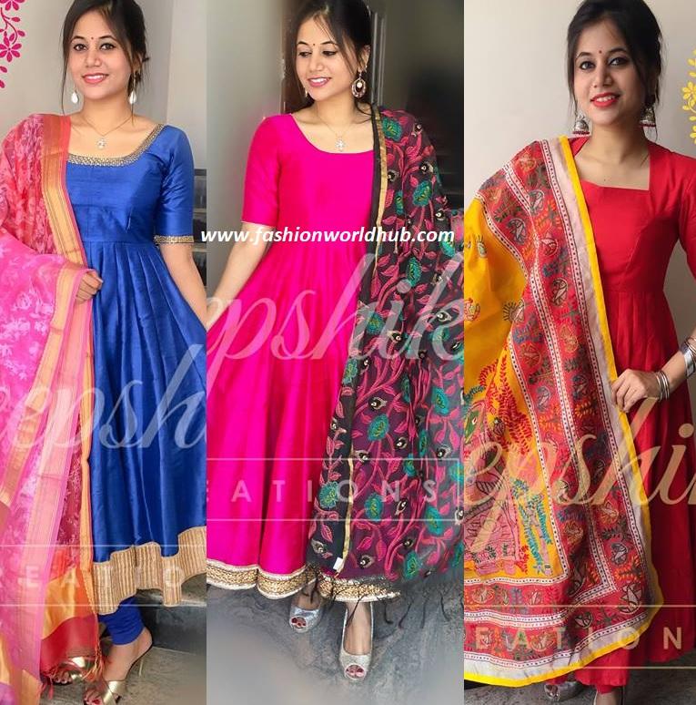 Floor Length Anarkali Designs By Deepshikha Reations Fashionworldhub