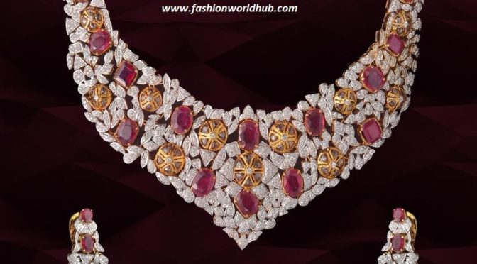 Diamond rubies necklace