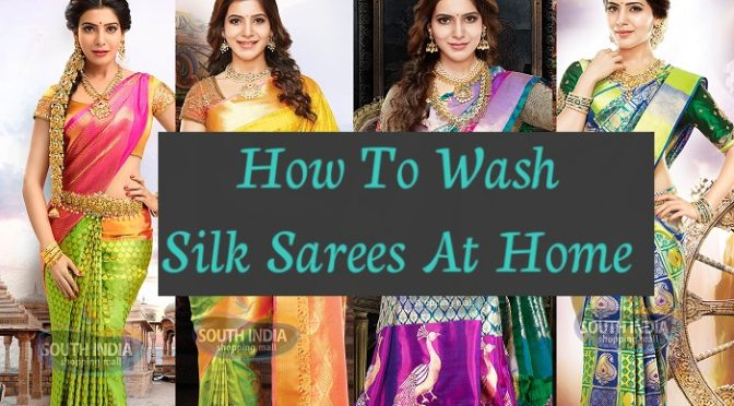 How to wash Silk or Pattu sarees at home ?