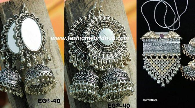 Modern Silver Jewellery by Manoharam