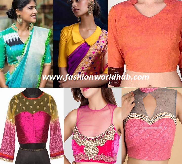 88ad5c42bdc405 50 Latest Saree Blouse Neck Designs | Fashionworldhub