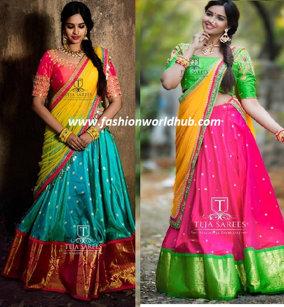 Top 8 Half Saree Color Combinations That Are Trending In 2018