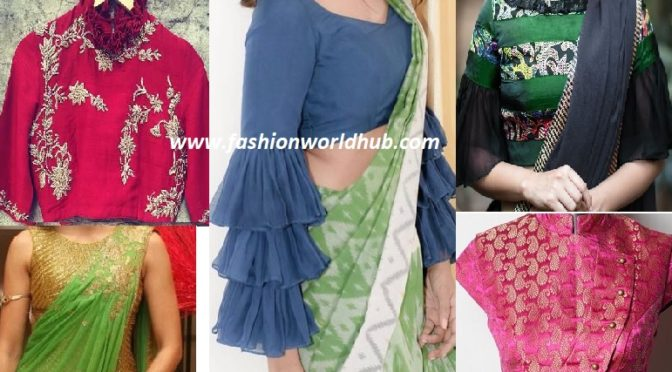 Unique style blouses designs