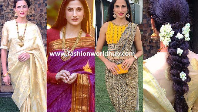 Shila reddy in Traditional saree look!