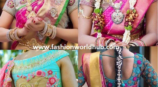 Heavy bridal blouse designs