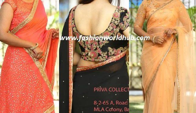 Designer saree & Designer blouse