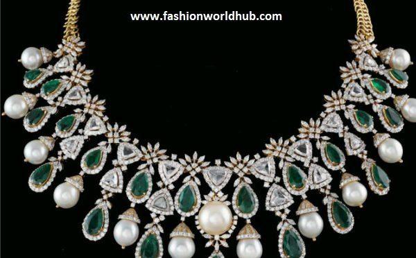 e13e790e2b08c1 Diamond Emerald Necklace | Fashionworldhub