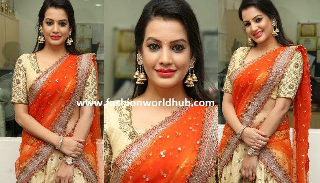 Diksha Panth in a half saree