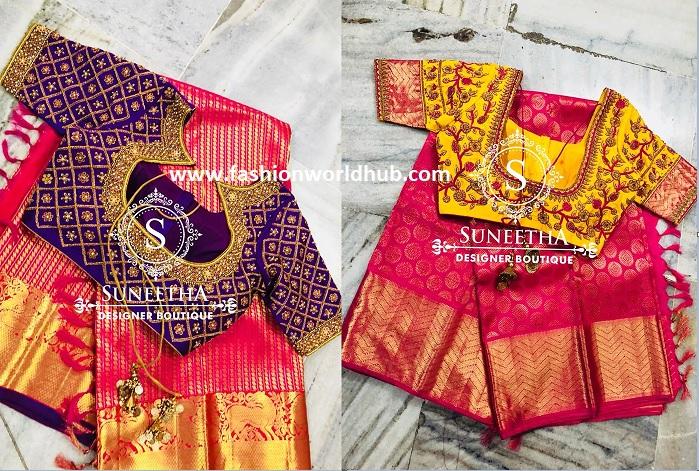 10 Gorgeous Pattu Sarees Designer Blouses By Suneetha Designer