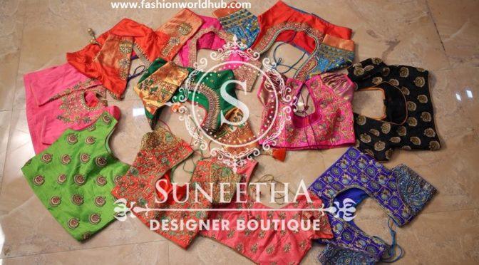 Blouse designs for Pattu sarees by Suneetha designer boutique
