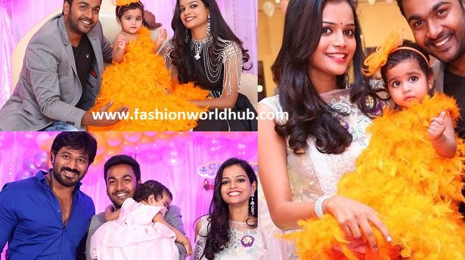 Actress Maheswari Shivanag daughter harini 1st birthday celebration photos!