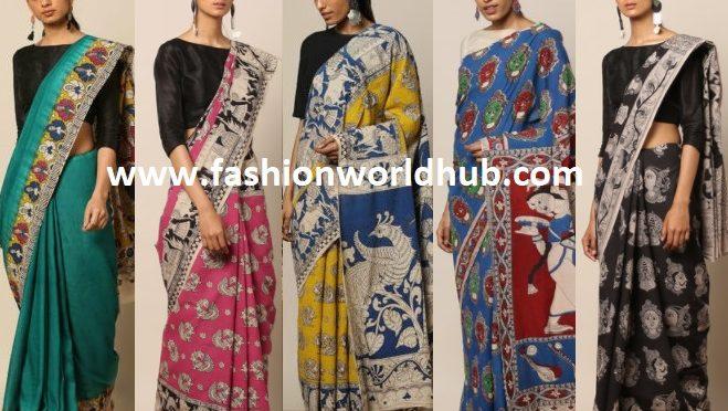 Kalamkari Cotton Sarees – Shop Online.