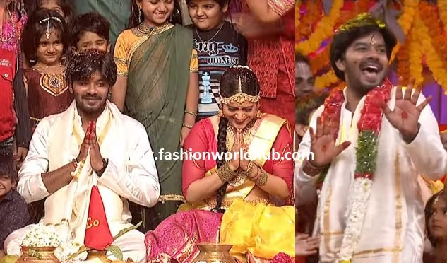 Aww Just like that! Anchor Rashmi Marries Sudheer ( Watch video)