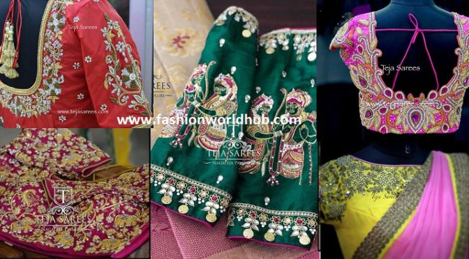 20 Gorgeous Bridal blouse designs by Teja sarees